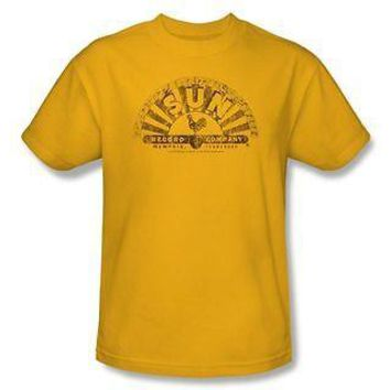 Sun Record Company Classic Rooster Worn Logo Licensed Adult T-Shirt S-2XL Tee