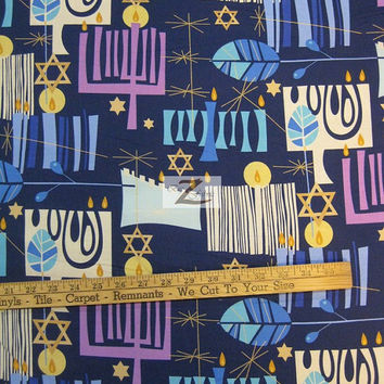 "100% Cotton Fabric By Alexander Henry - Modern Menora - Sold By The Yard  - 45"" Width (FH-83)"