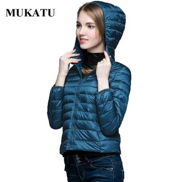 90% White Duck Down Jacket Women 2017 Hooded Ultra Light Down Coat Warm Winter Woman Slim Outerwear Jacket Packable Women Parkas