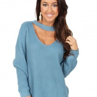 Riptide Sweater in Sky Blue | Monday Dress Boutique
