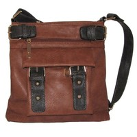Belted Pocket Cross Body Handbag