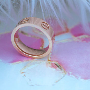 Love Rosegold Ring Size 7