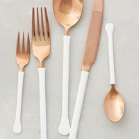 Copper Top Flatware by Anthropologie in Copper Size: Set Of 5 Flatware