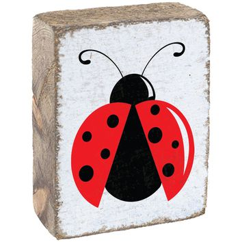 Ladybug | Wood Block Sitter | 6-in