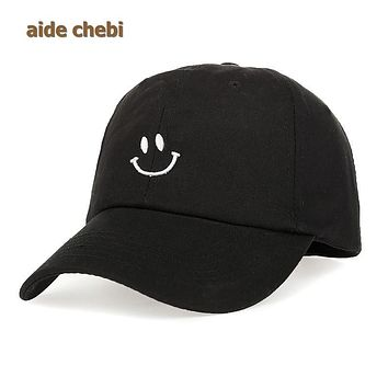 [aide chebi] 2017 Smile Soft cotton fashion leisure hat sister lovers snapback cap free shopping womens baseball cap spring caps
