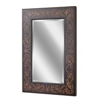 Regency Scroll Bronze Wall Mirror (1066) - Illuminada