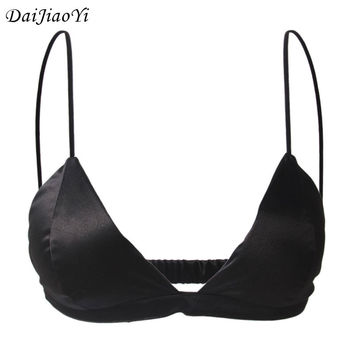 2017 New Noble Luxury Bra Underwear Women Silk Sexy Bralet Clothing High Quality White Black Bralettes Strappy Bra CUP AB B0020