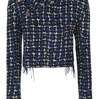Haider Ackermann - Cropped wool-blend bouclé-tweed blazer