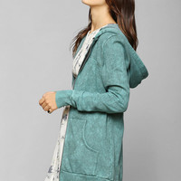 Staring At Stars Mineralized Tunic Zip-Up Hoodie Sweatshirt  - Urban Outfitters