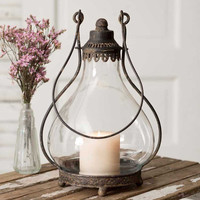 Rustic Vintage Style Large Northbridge Candle Lantern