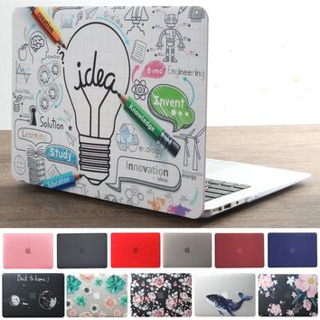 High Quality Laptop Graphic Printed Case For Apple Macbook Air & Macbook Pro Retina - Free Keyboard Cover