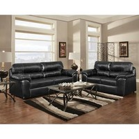 Chelsea Dorchester Two Piece Sofa Set In Taos Black
