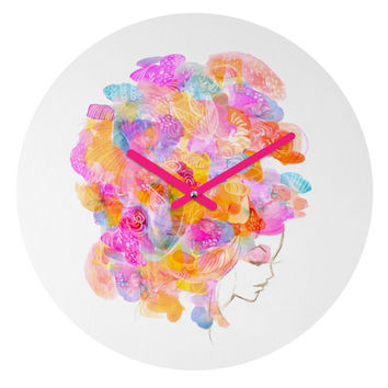 Stephanie Corfee Bouffant Round Clock