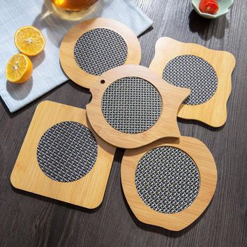 2017 Rushed Guante Cocina Gloves Mitts Bamboo Placemats Prevent Hot Coasters Insulation Pad Casserole Dish Mat Table Bowl