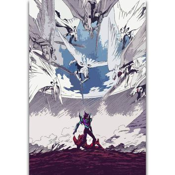 S2919 Neon Genesis Evangelion The End of Evangelion Japan Anime Wall Art Painting Print On Silk Canvas Poster Home Decoration