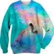 Dreamer of Dreams: Galaxy Wolf Howl Unisex Sweatshirt (Limited Edition by soaringanchordesigns