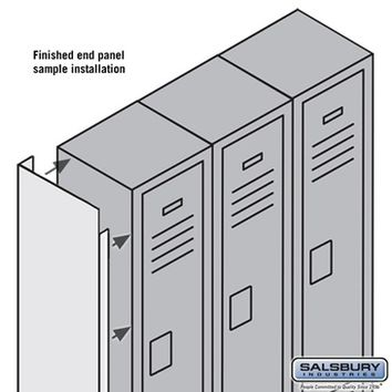 Salsbury Industries Finished End Panel - for 5 Feet High 15 Inch Deep Metal Locker