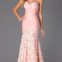 Ruched Strapless Sweetheart Dress