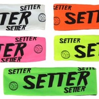 Neon Volleyball Setter Printed Spandex Fabric Elastic Headband available in 5 Colors