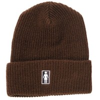 Girl Skateboards Girl OG Folded Beanie- BROWN