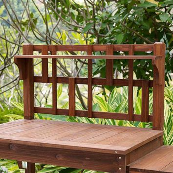 Solid Wood Potting Bench