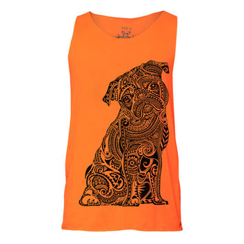 Polynesian Pug Tank, Tank top, Pug Tank, Workout Clothing, Gym Tank Top