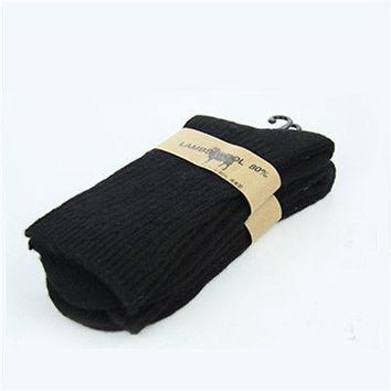 Winter Mens Army Socks Long Knee High Military Socks Thermal Wool Thickness Socks Size 9 to11
