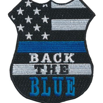 Tactical USA Flag Back The Blue Police Shield Embroidered Patch