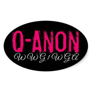 QANON THE GREAT AWAKENING OVAL BUMPER STICKER