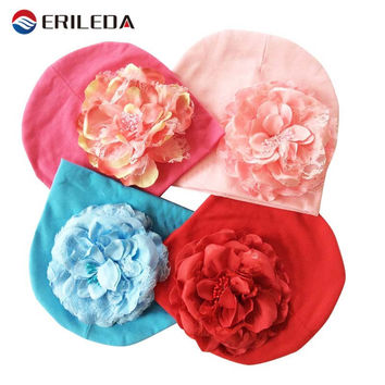 Baby Hat Big Floral Baby Girls Hats Flower Baby Girls Caps Children's Spring Autumn Hats For Girls Kids Accessories