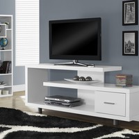 "White Hollow-Core 60""L Tv Console"