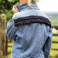 Rodeo Fringe Rework Levi Jacket  from Lost in Time