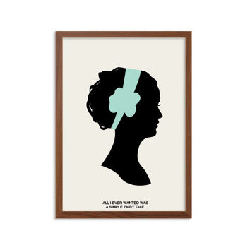 A Simple Fairy Tale Poster : Blair Waldorf Modern Illustration Gossip Girl TV Series Retro Art Wall Decor A4 8 x 11