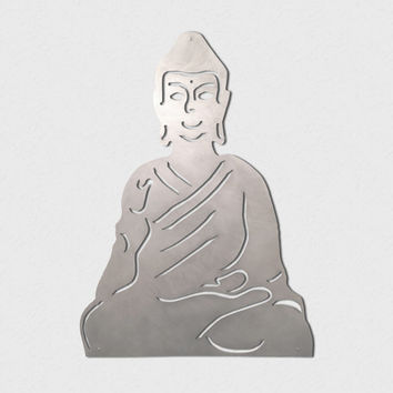Large Buddha Metal Wall Art by INSPIREMEtals on Etsy