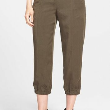 Women's Eileen Fisher Tencel Twill Tapered Crop Pants