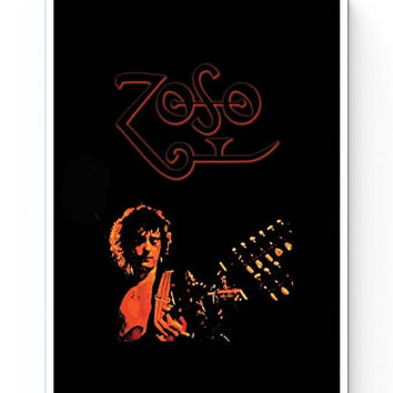 Jimmy Page Led Zeppelin Zoso Inspired Poster