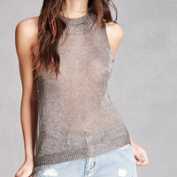Metallic Mesh Tank Top