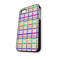 Adventure Time Finn Face Pattern iPhone 4/4S Case