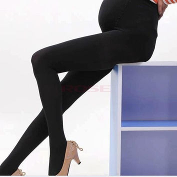 Maternity Leggings Pregnant Women Leggings Cotton Winter Women Pants One Size SV012402|27701 = 1946488516