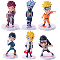 hot ! NEW 6pcs/set 9-12cm Naruto Uzumaki Hatake Kakashi Sabaku no Gaara PVC Action Figure Model toys