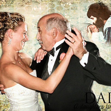 Father Daughter Parent Gift Wedding Thank You Photo Art Custom Photo Editing