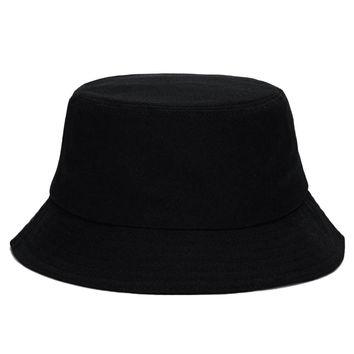 Black Unisex Bucket Hat Hunting Fishing Outdoor Cap Men's Women's Summer Sun Hat Hip Hop Caps Fishing Hat