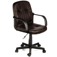 Comfort Products 60-5607M Mid-Back Leather Office Chair, Brown