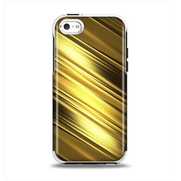 The Shimmering Slanted Gold Texture Apple iPhone 5c Otterbox Symmetry Case Skin Set