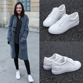 Stylish Comfort Hot Sale Hot Deal On Sale Korean Shoes Summer Casual Star Leather Sneakers [4919228100]