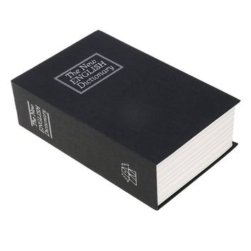 18*11.5*5.5cm English Dictionary Book Shaped Safe Lock-up Money Coins Saving Bank Storage Box with Keys