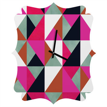 Georgiana Paraschiv Colour and Pattern 20 Quatrefoil Clock