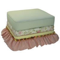 Angel Song 221721108 English Bouquet Adult Empire Gliding Ottoman