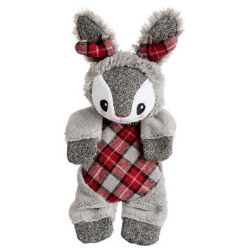 Petco Holiday Flattie Jackalope Dog Toy