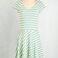 Eco-Friendly Mid-length Short Sleeves A-line Effortless Charm Dress